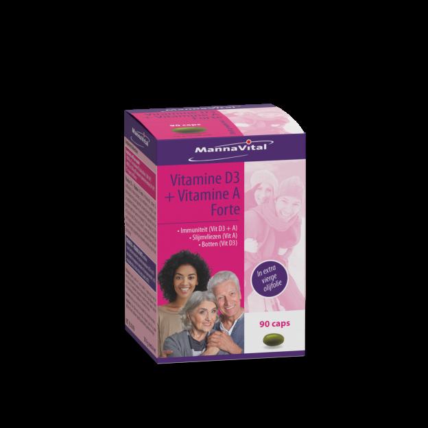Mannavital  Vitamine D3 + Vitamine A Forte
